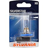 SYLVANIA - H8 SilverStar Fog Light Bulb - High Performance Halogen Headlight Bulb, Brighter Downroad with Whiter Light (Contains 1 Bulb)