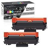 GPC Image TN2420 TN-2420 Cartouche de Toner Compatible pour TN2410 TN-2410 pour Brother DCP L2510D L2530DW L2550DN, HL L2310D L2350DW L2370DN L2375DW, MFC L2710DN L2710DW L2730DW L2750DW (2 Noir)
