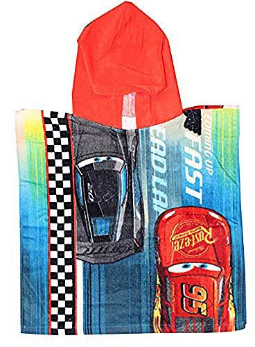 Disney Cars Lightning McQueen, Jackson Storm, Cruz Ramirez poncho met capuchon van 100% katoen, voor kinderen, one size 75x50cm