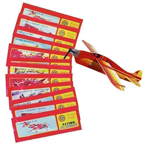 JT Gleitflugzeuge Set - Der Klassiker für den Kindergeburtstag - Styropor-Flieger - einzeln verpackt - für Tombola Schultüte Mitgebsel Überraschung (12er Set)