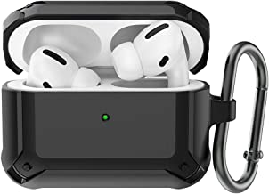 BRG AirPods Pro Case Cover Designed for AirPods pro, Full-Body Protective Rugged Armor AirPod Pro Case with Carabiner for AirPods Pro Wireless Charging Case [Front LED Visible]