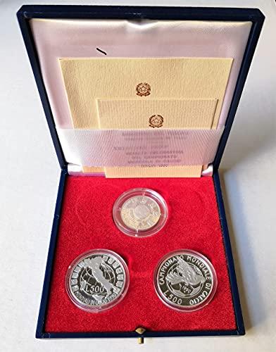LaVecchiaScatola 1990 Monete Celebrative Mondiali Calcio Italia 90 - Cofanetto