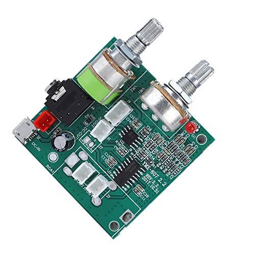 Mugast Digital Audio Stereo Board, 2.1 Channel Digital Audio eindversterker Board hoofdprintplaat 5 V 20 W hoog vermogen Power Audio versterker Amplifier Stereo Board Module voor laptop / desktop-kaarten-audio