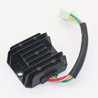 Amyli 4 Pins Voltage Regulator Rectifier for GY6 50cc 125cc 150cc Engine Scooter Moped Motorcycle Motocross