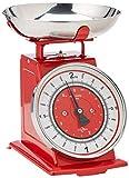 Küchenprofi Nostalgie rot Küchenwaage, Edelstahl, 22 x 22 x 25,5 cm