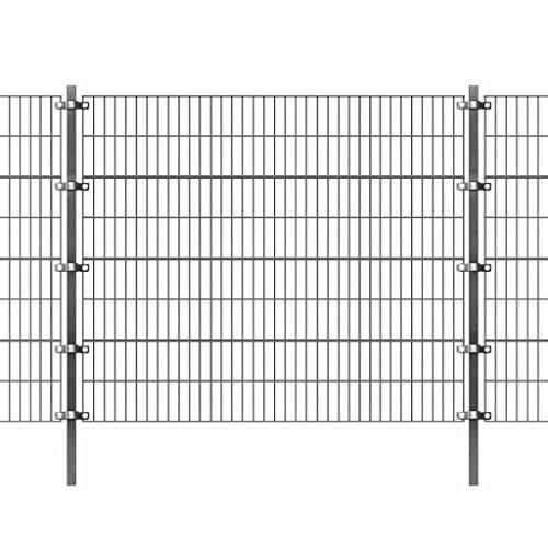Festnight Panel de Valla de Jardin Metalica 6 x 1.6 m (Longitud x Altura)