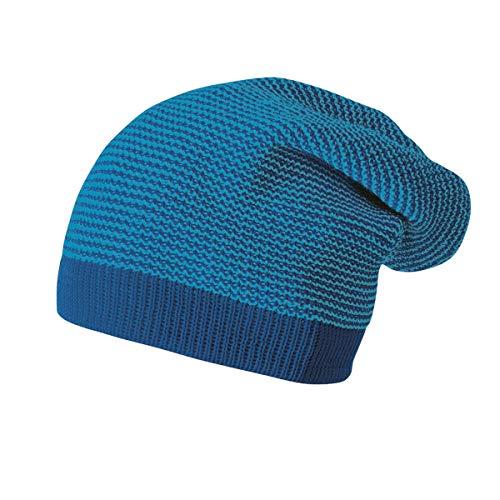 Disana Longbeanie aus Bio-Merinoschurwolle (Marine/blau)