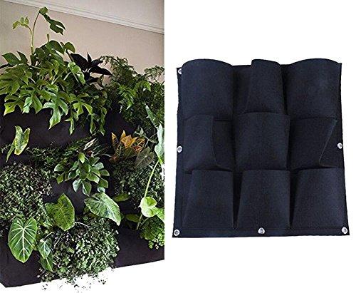 Yuccer Fioriera da Giardino, Fioriera Verticale da Parete, Garden Planter Giardinaggio Planter da Giardino Fiori Interni Eesterni 9 Tasche (Green)
