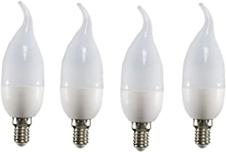 Uonlytech Filament Lights Flame Dimmable Bulbs for Chandeliers Pendant Sconces Fixtures E14 220V 3W 4pcs (Warm White)