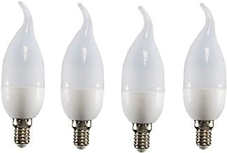 Uonlytech Filament Lights Flame Dimmable Bulbs for Chandeliers Pendant Sconces Fixtures E14 220V 3W 4pcs (Warm White)