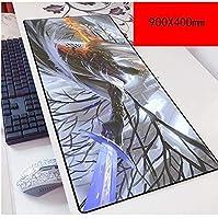 マウスパッド暗い魂 スピードゲームマウスパッド| XXLマウスパッド| 900 x 400mm大型| 3mm厚ベース|完璧な精度 D