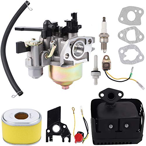 Kuupo GX200 Carburetor Air Filter Muffler Exhaust Assembly for Honda GX140 GX160 GX 200 5HP 5.5HP 6.5HP Generator Harbor Freight Predator 212cc Engine Carb Replacement