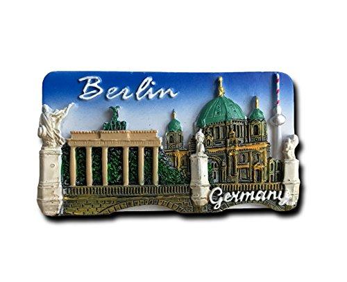 Imán de nevera 3D Berlín Alemania, famosos recuerdos de turismo, resina artesanal, imán de nevera para decoración de hogar y cocina, regalo de promoción