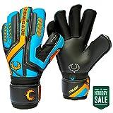 Renegade GK Talon Cyclone 2 Roll Cut Level 2 Adult & Junior Goalie Gloves Men & Women with Pro-Tek Fingersaves...