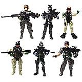 YIJIAOYUN 6 Pièces Grande Figurine d'action Jouet de Soldats avec Arme / Figures Militaires Ensembles