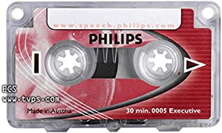 Philips LFH0005 Executive 30 Minute Mini Cassette Tape - 5 Pack