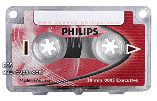 Philips LFH0005 - Mini cassette, 30 minuti, rosso, 1 pezzo