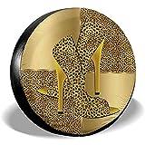 Mike-Shop Reifendecke Golden Leopard Shoes Animal Universal Spare Reifendecke
