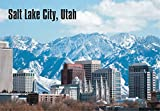 Salt Lake City, Utah, City Skyline, Mountains, UT, Souvenir Magnet 2 x 3 Fridge Magnet