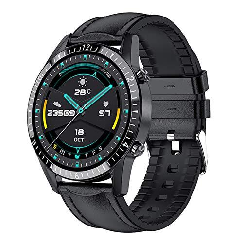 QLK Smart Watch, Nueva Llamada Bluetooth I9, Fitness Deportivos para Hombres Y Mujeres, Monitoreo De Presión Arterial De Frecuencia Cardíaca Smartwatch para Teléfonos iOS De Android,D