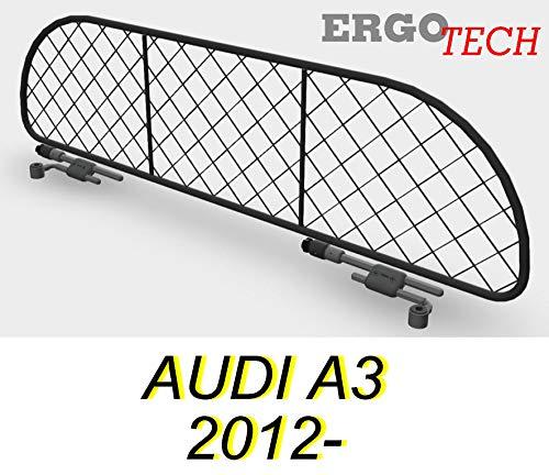 ERGOTECH Trennnetz Trenngitter Hundenetz Hundegitter für Audi A3 3 Türen ab BJ 2012