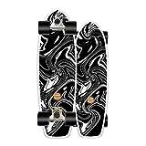 Surfskate Carving Pumpping Skateboard Tabla Skate Completo, Skates CX4 Truck, Rodamientos De Bolas ABEC-11, 31In Canadiense De Madera De Arce, Adecuado Para Niños, Adolescentes, Jóvenes Y Adultos