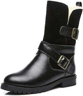 el mas de moda botas Martin botas De Nieve Para Mujer De Cuero botas botas botas Cortas De Motocicleta Retro botas De Invierno Con Hebilla De Cinturón  presentando toda la última moda de la calle