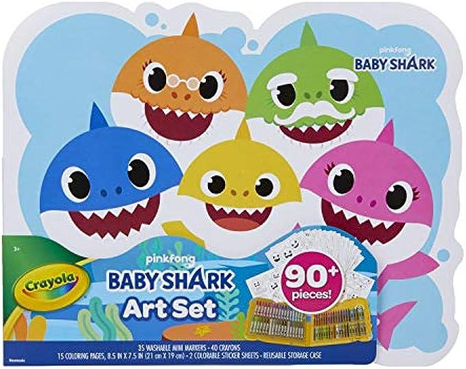 Crayola Baby Shark Art Set, 90 Pieces