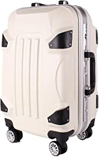 ABS + PC Material Transformer Trolley Case Aluminum Frame Caster Retro White 20 Inch