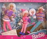 Winter Holiday BARBIE Gift Set - Sledding Fun w Barbie, Koko, Stacie, Kelly & Skipper Dolls & Dog (1995)