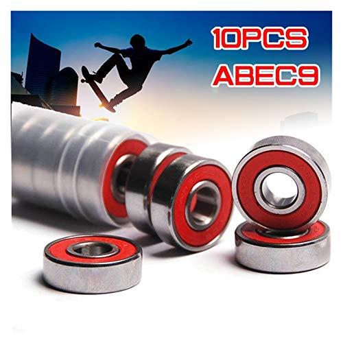 Patineta de rodamientos 10x ABEC-9 608 2RS Anti-óxido de cojinete de rueda...