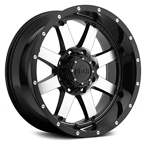 Gear Alloy 726M Big Block Wheel with Machined Finish (20x9'/6x5.5', 0mm Offset)