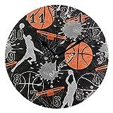 funnyy - Reloj de Pared de Baloncesto Redondo de acrílico, silencioso, no Hace Bolas, para niños, niñas, Dormitorio, Sala de Estar, Escuela, decoración del hogar