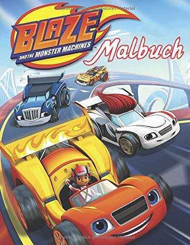 Blaze And The Monster Machines Malbuch: Spezielles Malbuch für Kinder