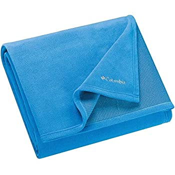 Columbia Cozy Soft Fleece Bed and Couch Throw Blanket - with Thermal Coil Warm Body Heat Insulating Technology - Rapid Blue