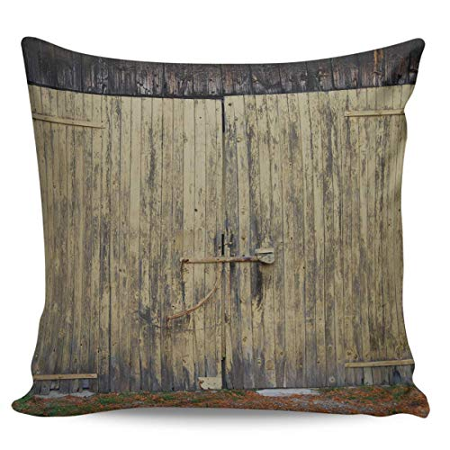 Cushion Cover Throw Pillow Covers Vintage Farm Dilapidated Gate Decorative Pillow Cases 45 X 45CM