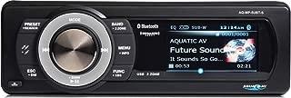 Aquatic Av AQ-MP-5UBT-S Waterproof Marine Digital Media Receiver with Dock/Bluetooth/USB and Satellite Radio Ready