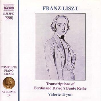 LISZT: Bunte Reihe (Liszt Complete Piano Music, Vol. 14)