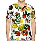 YILINGER T-Shirt 3D Printed Exotic Tropical Fruits of Asian Plants Casual Teesa