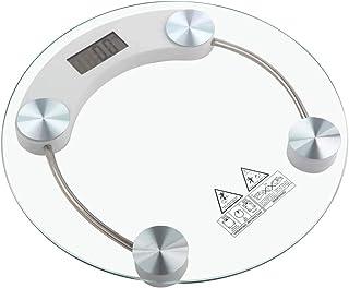 LEDLUX GM-1286 Báscula digital redonda de cristal hasta 180 kg de baño