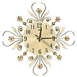 Aeromdale Reloj de pared moderno con diamantes de cristal, r