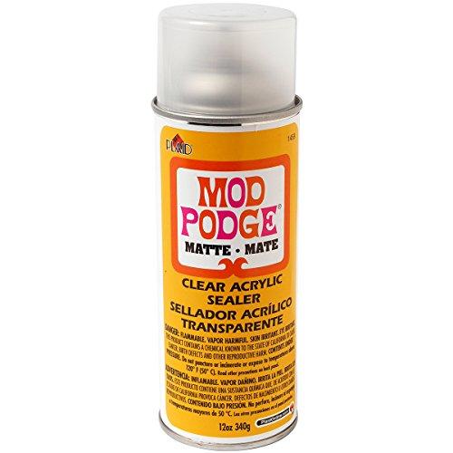 Mod Podge Clear Acrylic Sealer, 12 ounce, Matte 12 ounce