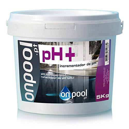 Onpool - Elevador/Incrementador/Aumentador de pH+ 5 Kg para Piscina - Especialmente formulado para Aumentar el pH de su Piscina Cuando está por Debajo de los valores de Seguridad