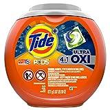 Tide Pods Ultra Oxi Detergente líquido Paquetes, 32 cápsulas