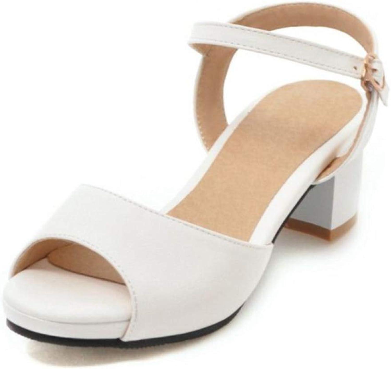 MEIZOKEN Women's Mid Chunky Heels Sandal Pointed Toe Rivet Ankle Strap D'Orsay Pumps Block Heel Dress Sandals