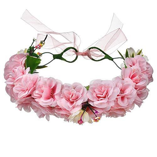 Bijoux Cheveux Perles Couronne Fleur Cristal Serre T/ête Guirlande Bandeau Headband pour Demoiselle d/'Honneur Accessoire Mariage Femme F/ête Anniversaire Sunenjoy