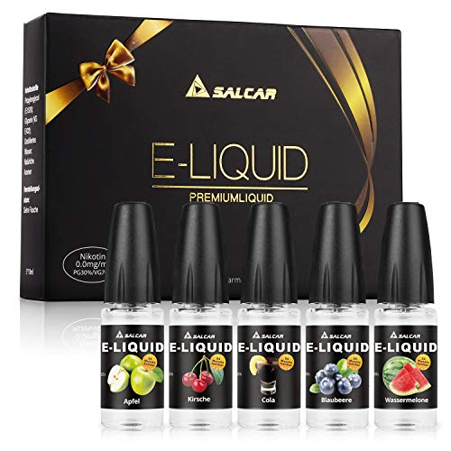 Salcar 5 x 10ML Liquid cigarrillo electrónico, VG70%/PG30%