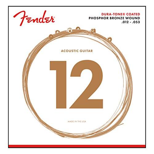 Fender® 860XL Dura-Tone 012/053 - Cuerdas para guitarra acústica (010/048