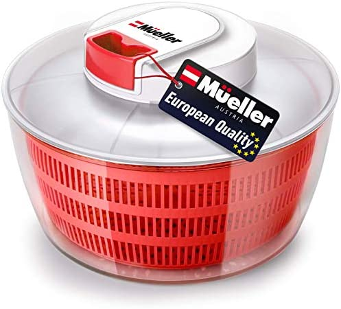 Mueller Salad Spinner with QuickChop Pull Chopper Vegetable Washer with Bowl Anti Wobble Tech product image