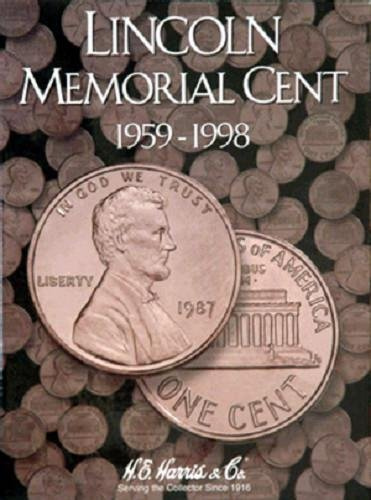 H.E. Harris Lincoln Memorial Cent#1 Coin Folder 1959-1998